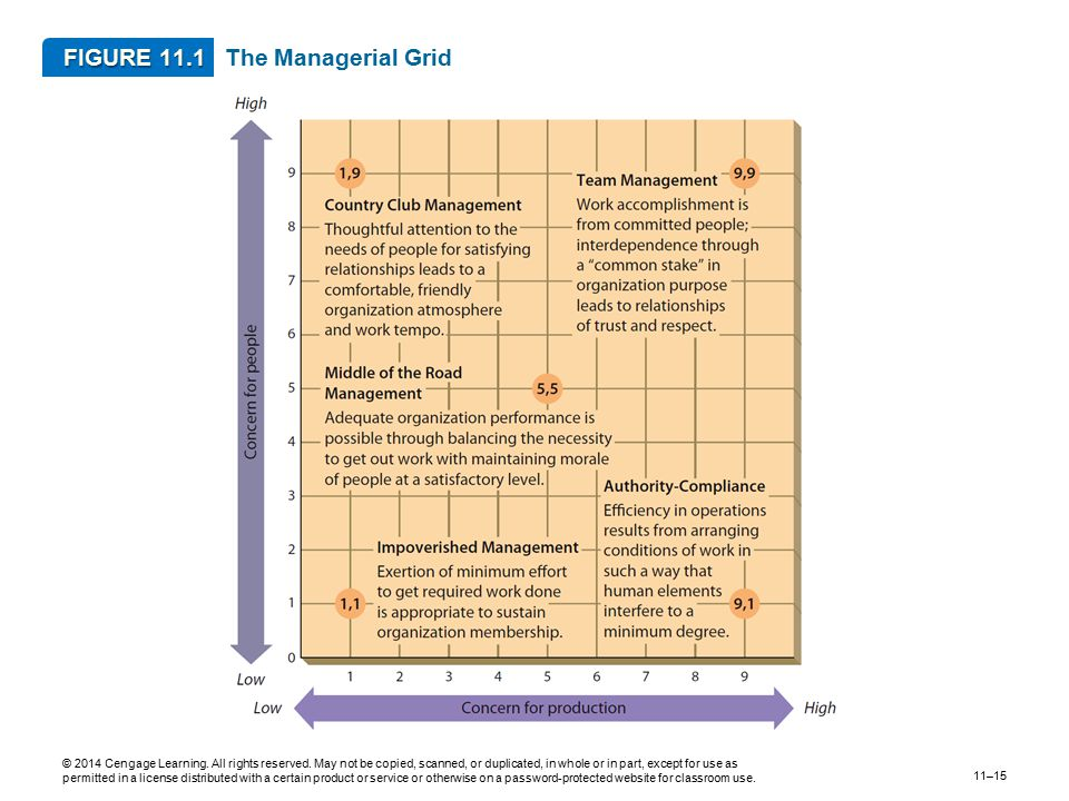 FIGURE 11.1 The Managerial Grid