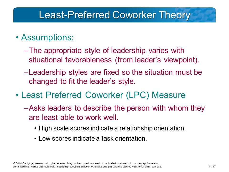 Least-Preferred Coworker Theory