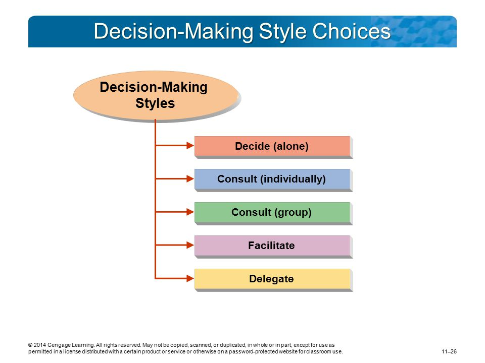 Decision-Making Style Choices