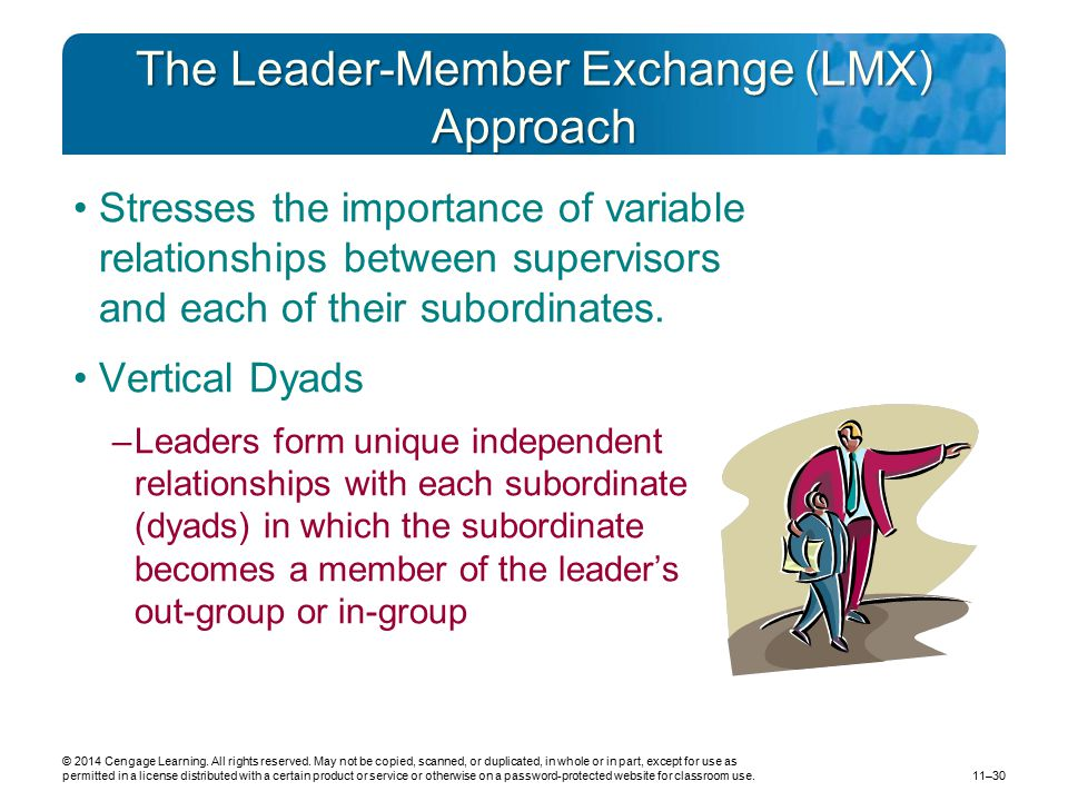 The Leader-Member Exchange (LMX) Approach