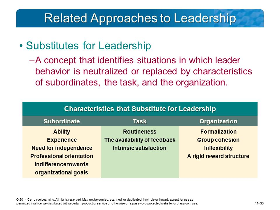 Related Approaches to Leadership
