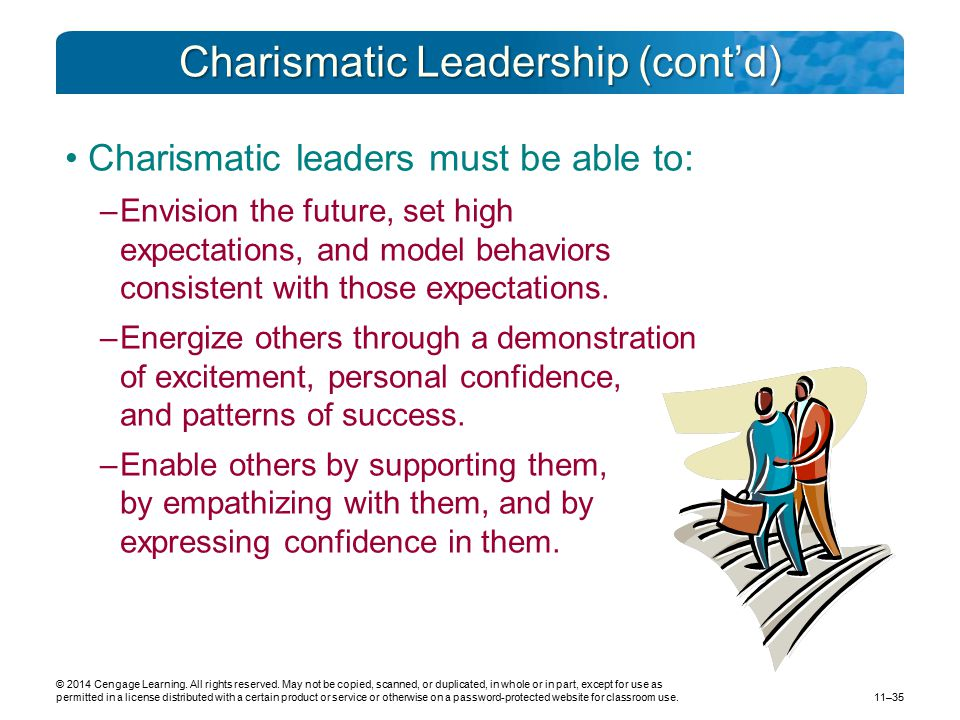 Charismatic Leadership (cont'd)