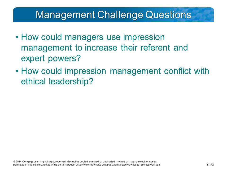 Management Challenge Questions