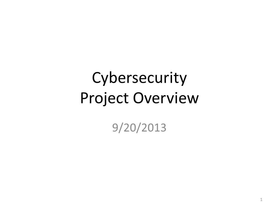 Cybersecurity Project Overview