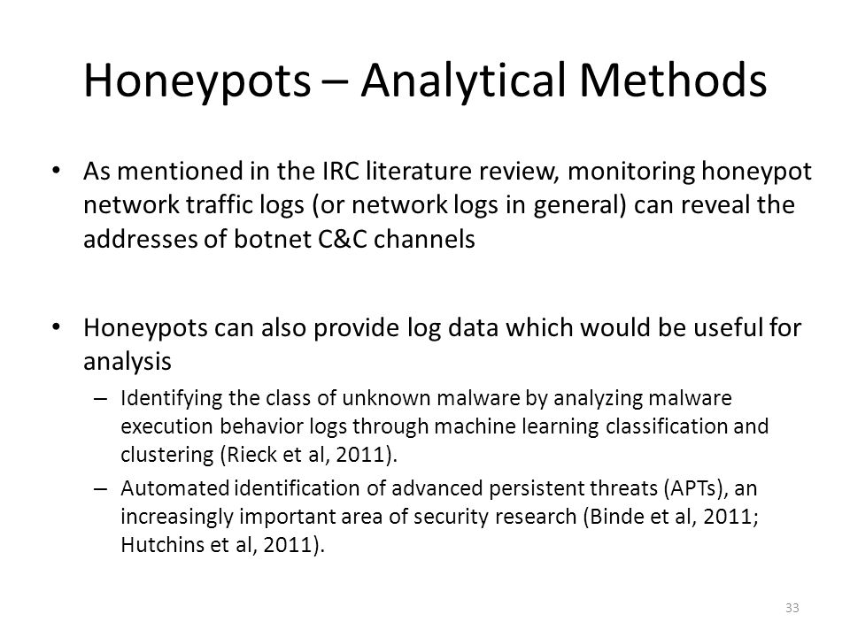 Honeypots – Analytical Methods