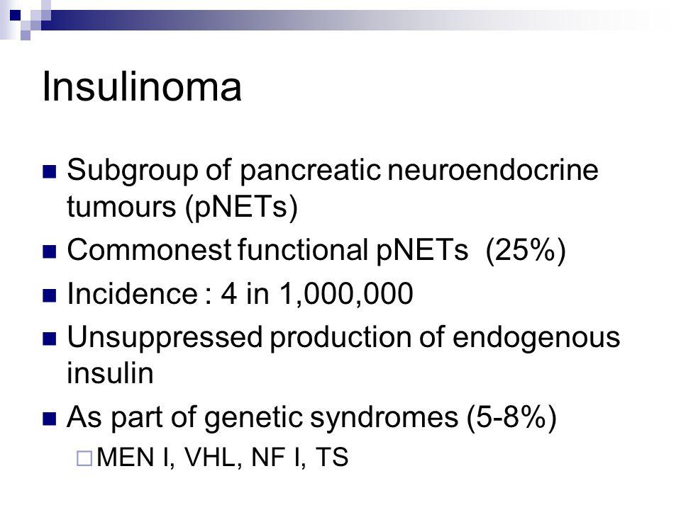 Insulinoma Subgroup of pancreatic neuroendocrine tumours (pNETs)