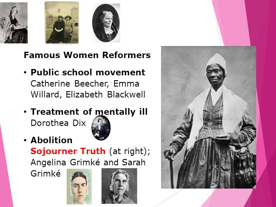 Famous Women Reformers
