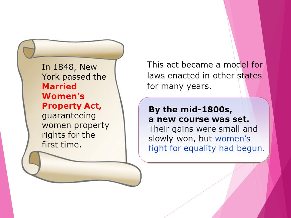 This act became a model for laws enacted in other states for many years.
