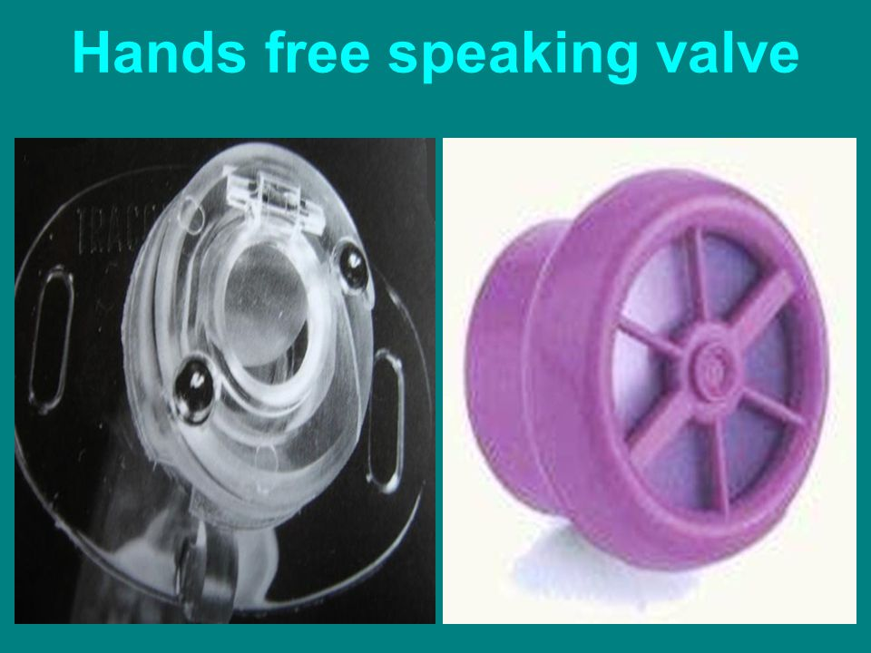 Hands free speaking valve