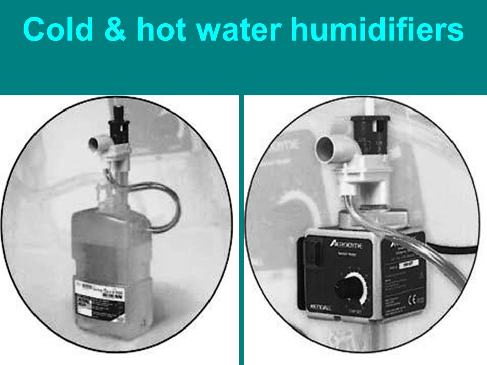 Cold & hot water humidifiers
