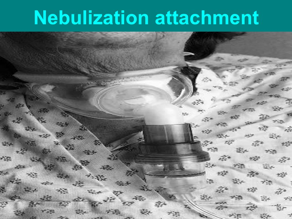 Nebulization attachment