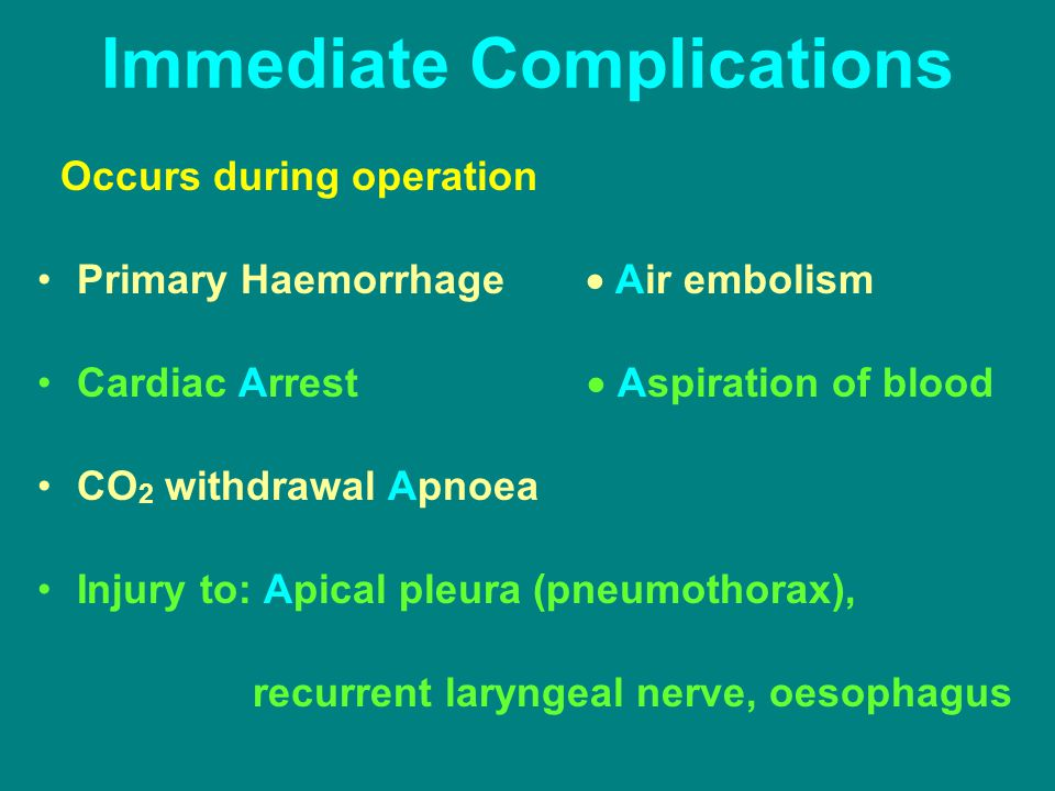 Immediate Complications