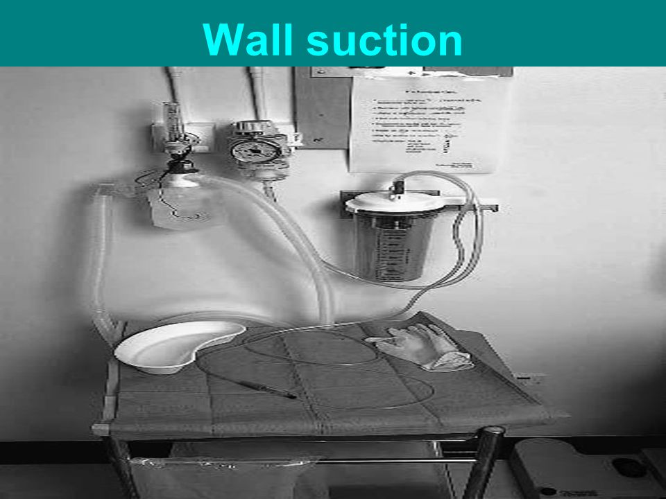Wall suction