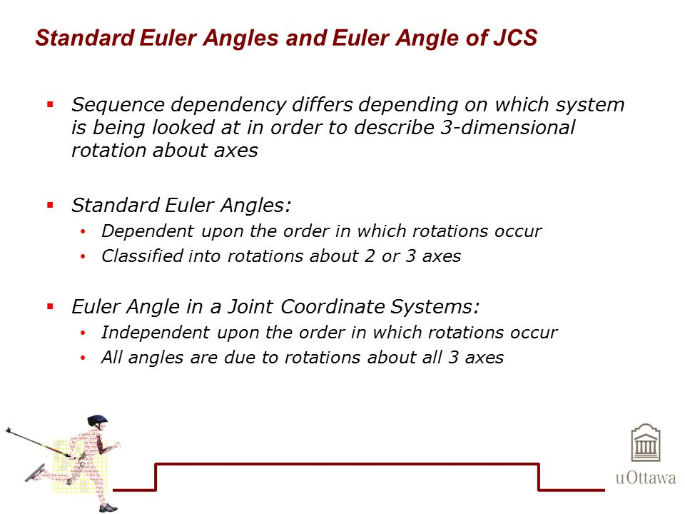 Standard Euler Angles and Euler Angle of JCS