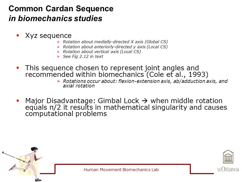 Common Cardan Sequence in biomechanics studies