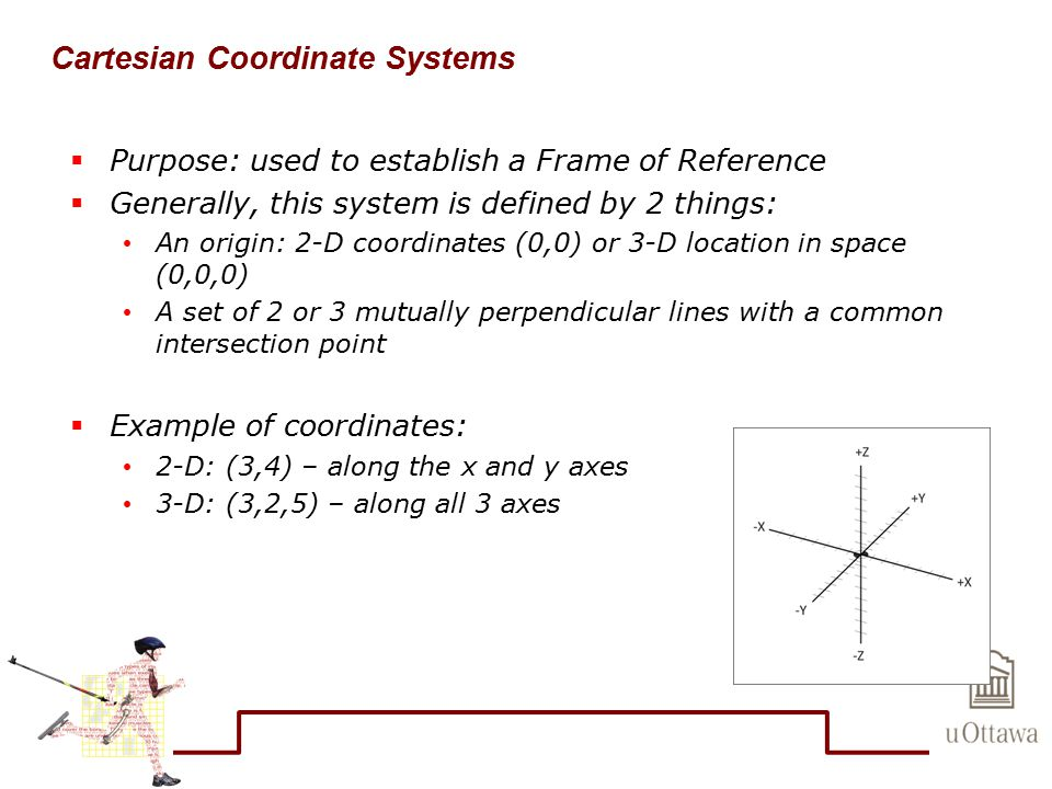 Cartesian Coordinate Systems