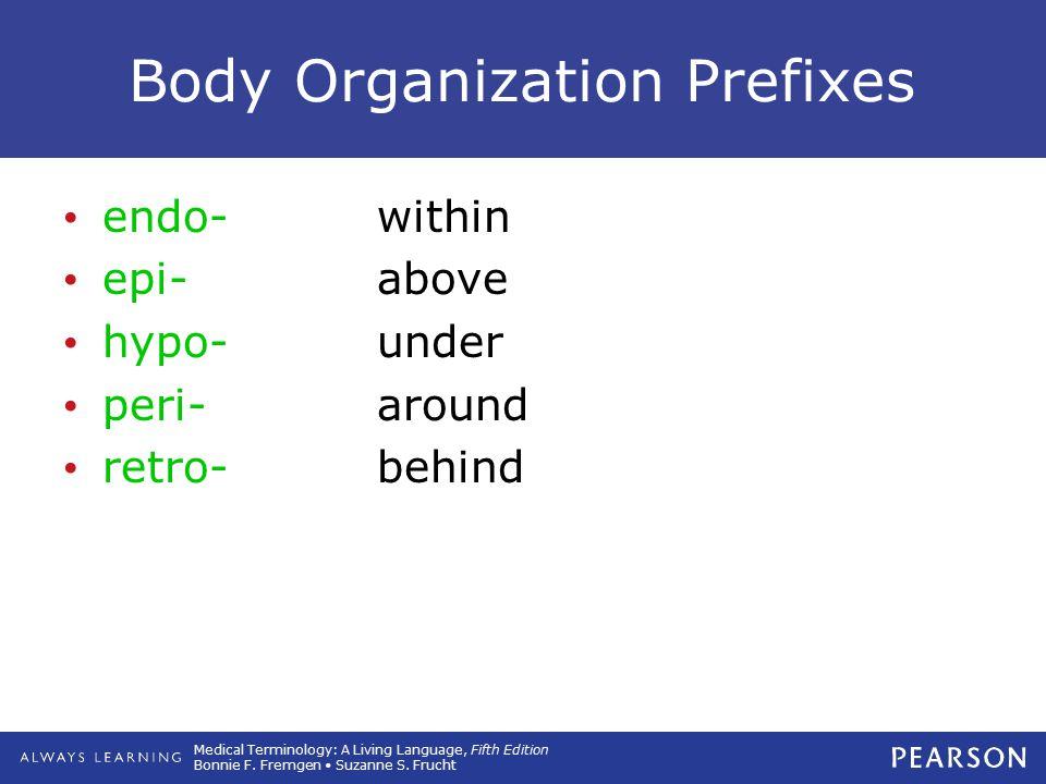 Body Organization Prefixes