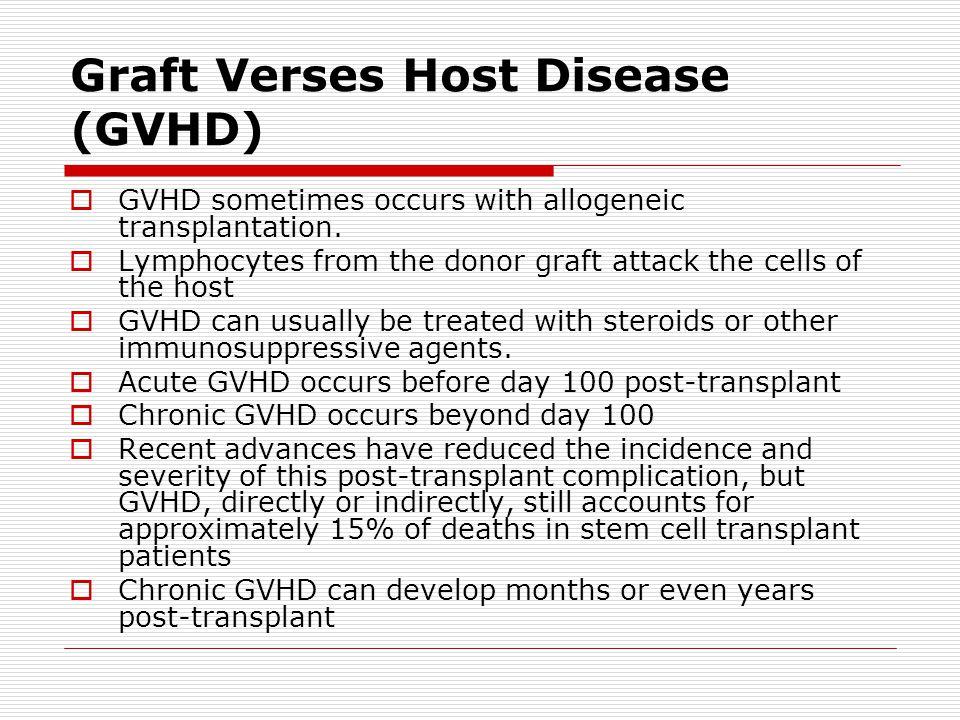 Graft Verses Host Disease (GVHD)