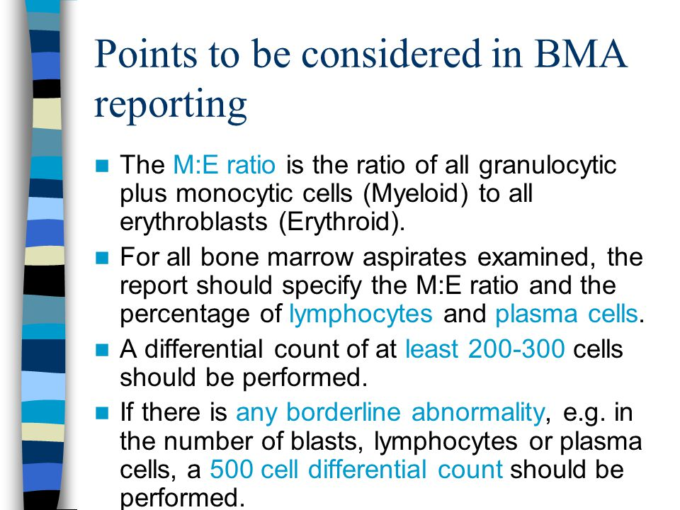 Points to be considered in BMA reporting