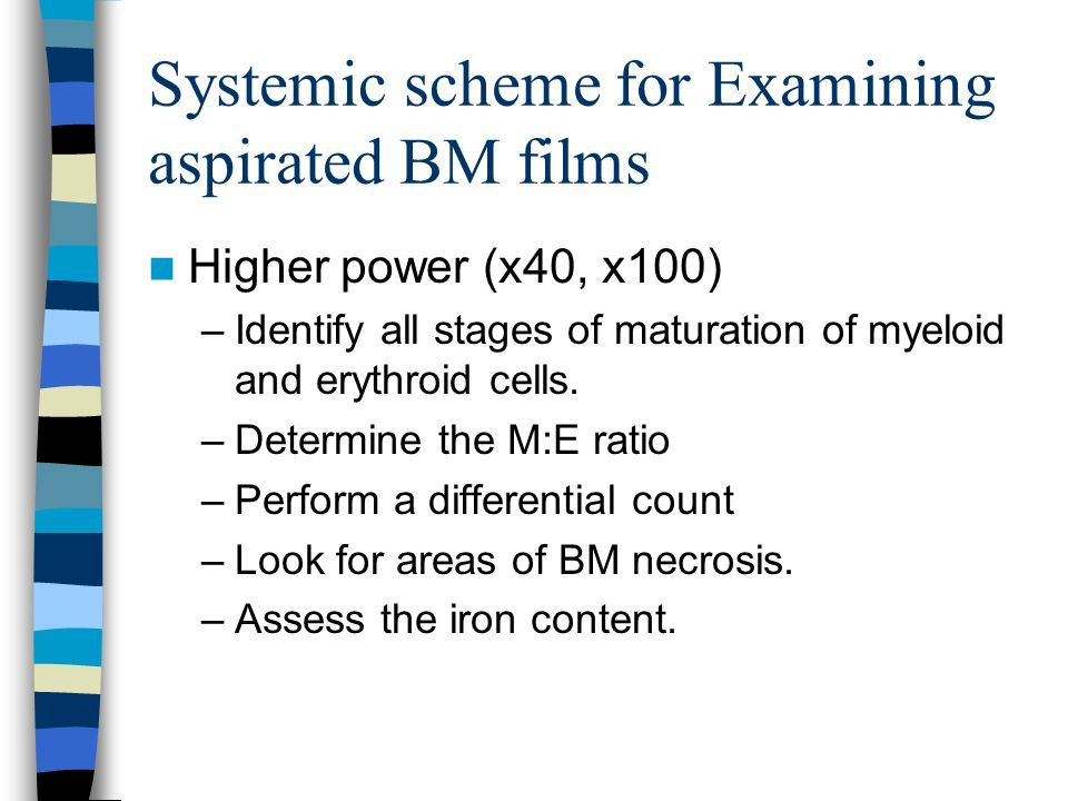 Systemic scheme for Examining aspirated BM films