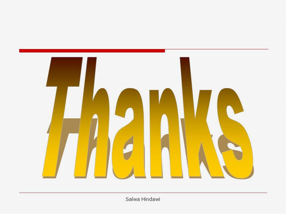 Thanks Salwa Hindawi