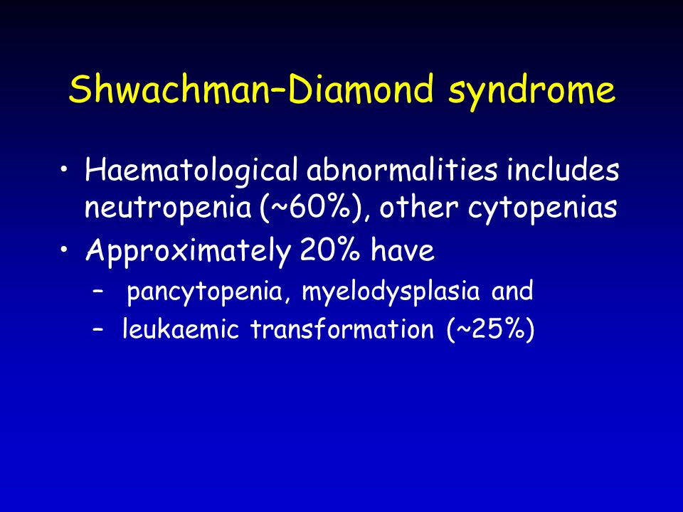 Shwachman–Diamond syndrome