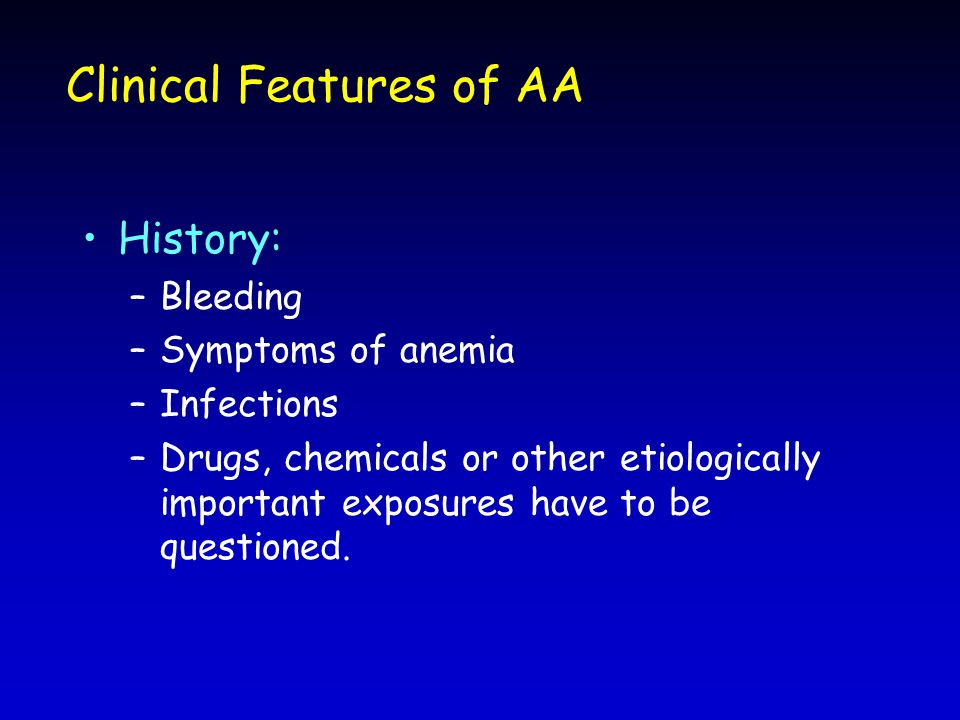 Clinical Features of AA