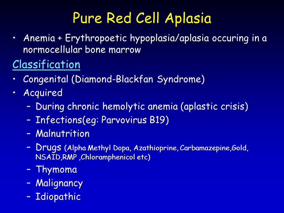 Pure Red Cell Aplasia Classification