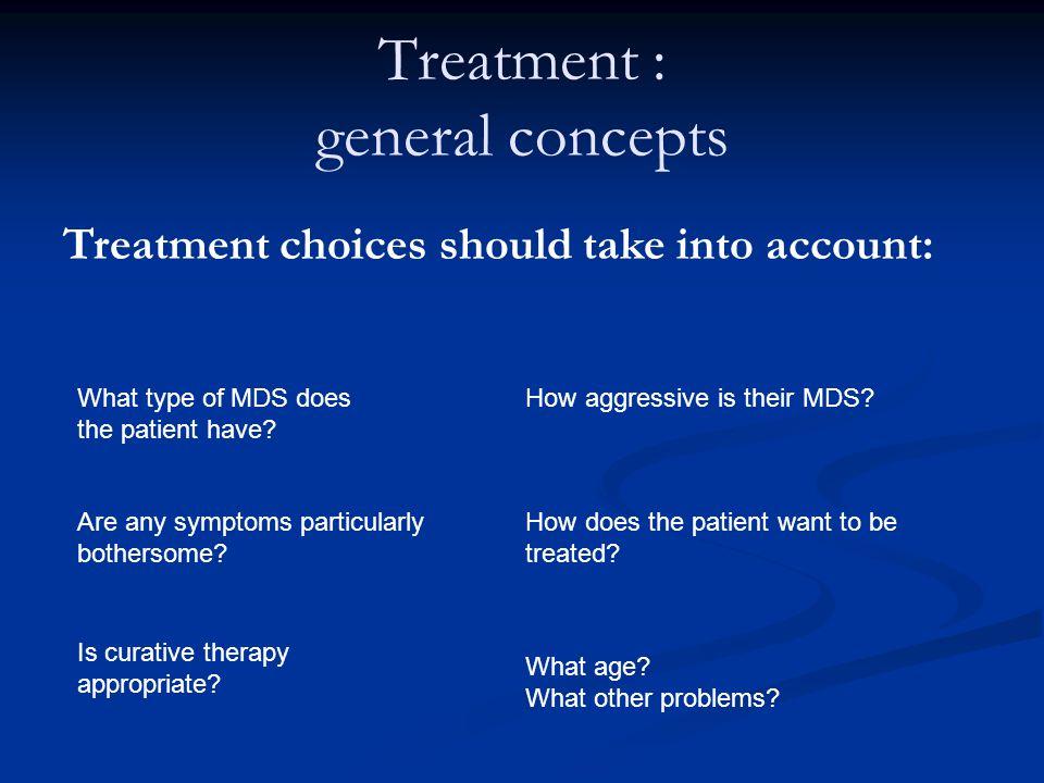 Treatment : general concepts