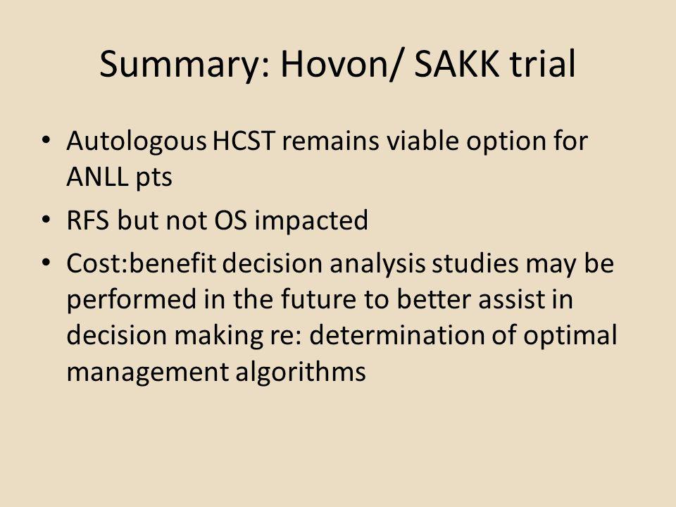 Summary: Hovon/ SAKK trial