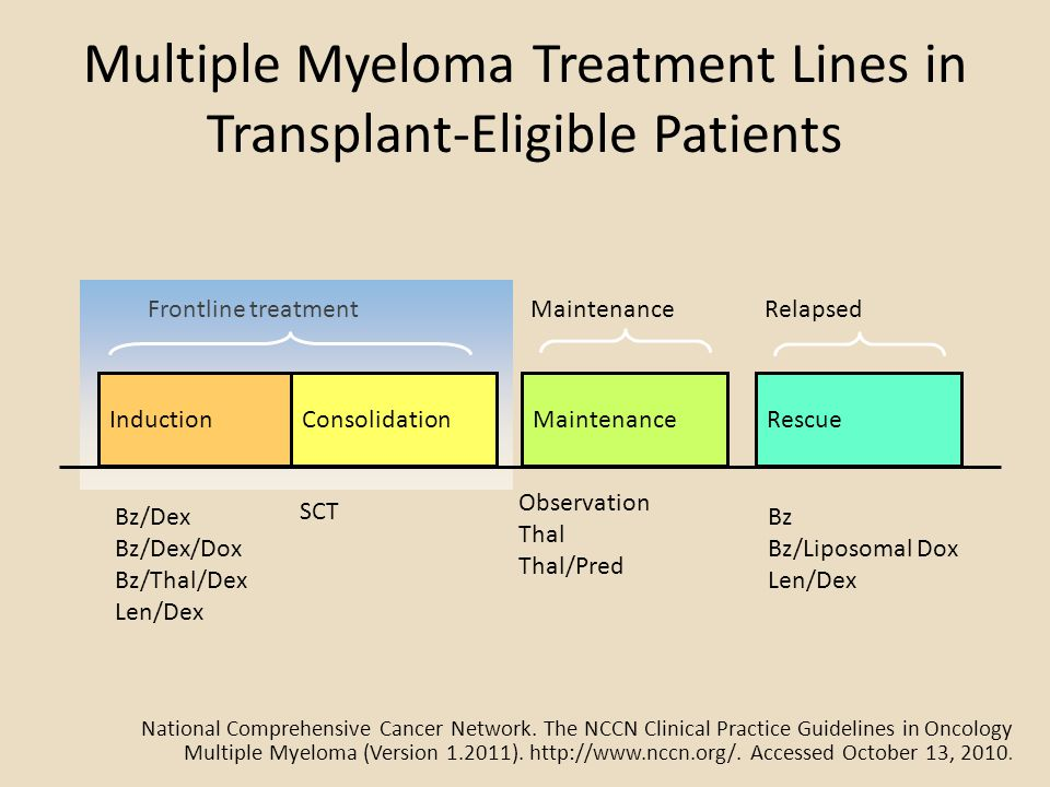 Multiple Myeloma Treatment Lines in Transplant-Eligible Patients