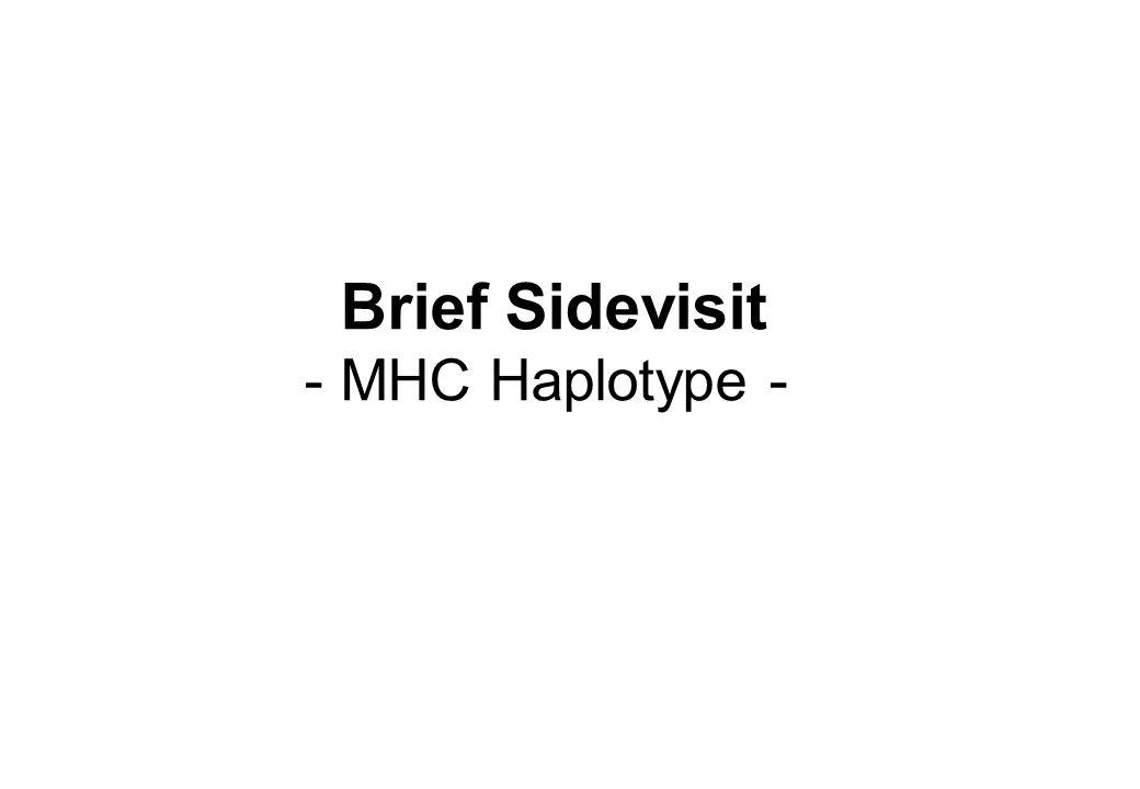 Brief Sidevisit - MHC Haplotype -