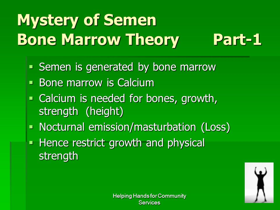 Mystery of Semen Bone Marrow Theory Part-1