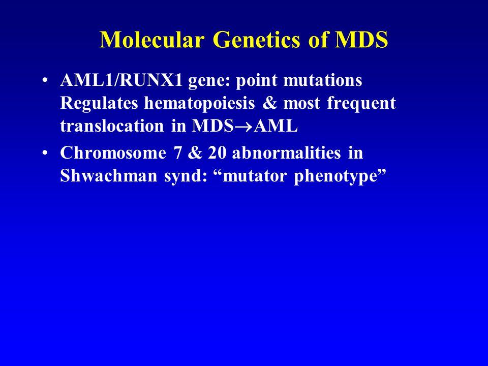 Molecular Genetics of MDS