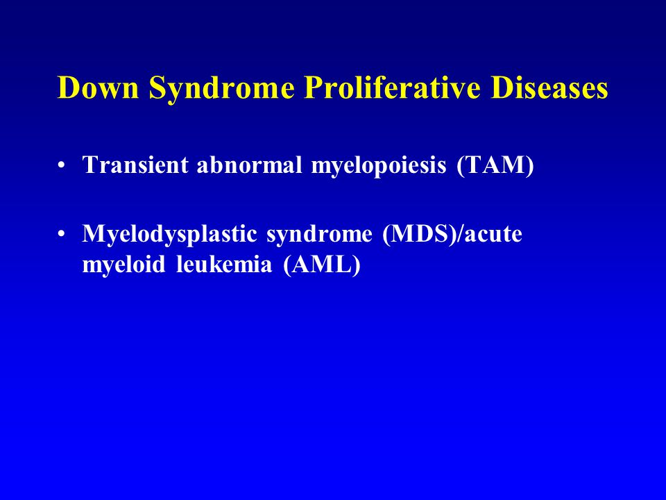 Down Syndrome Proliferative Diseases