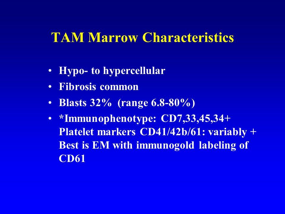 TAM Marrow Characteristics