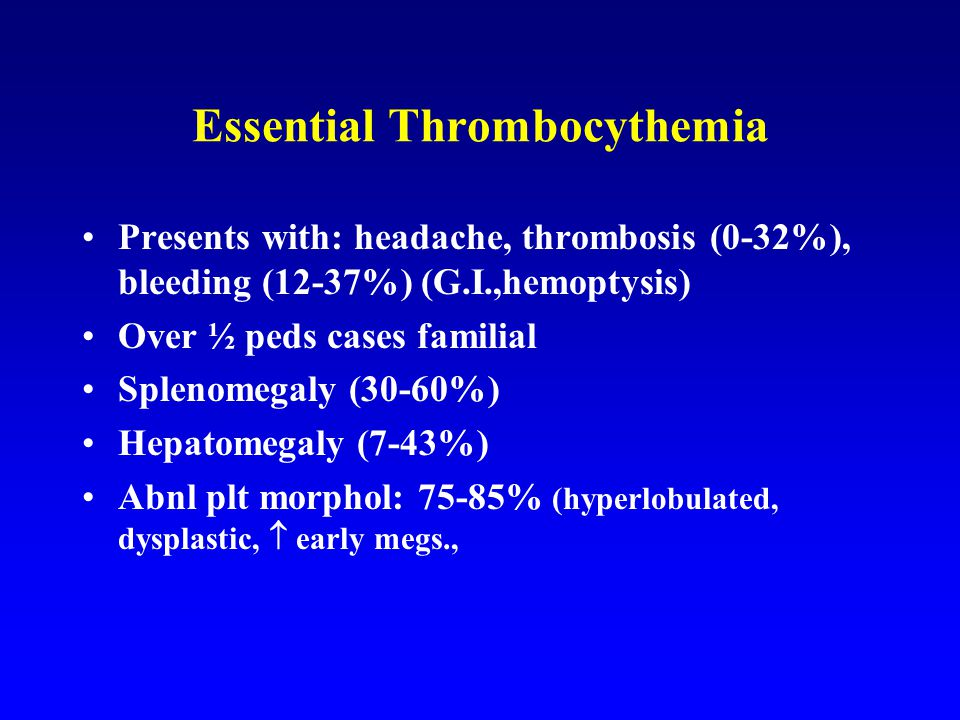 Essential Thrombocythemia