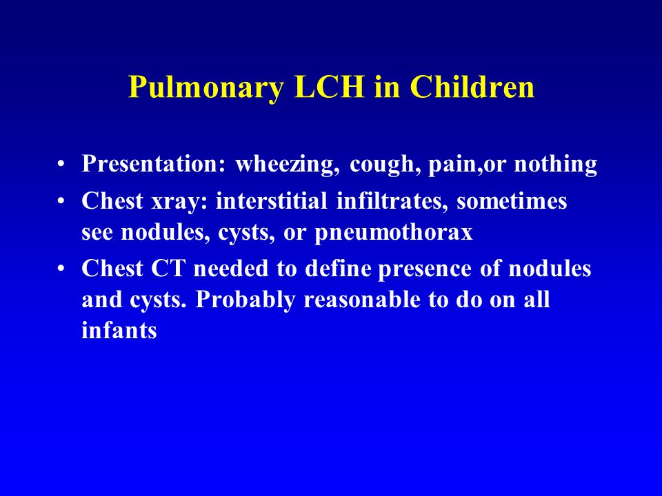 Pulmonary LCH in Children