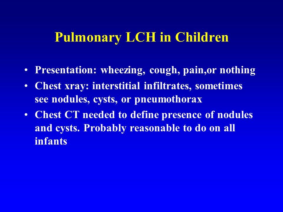 Pulmonary LCH in Children