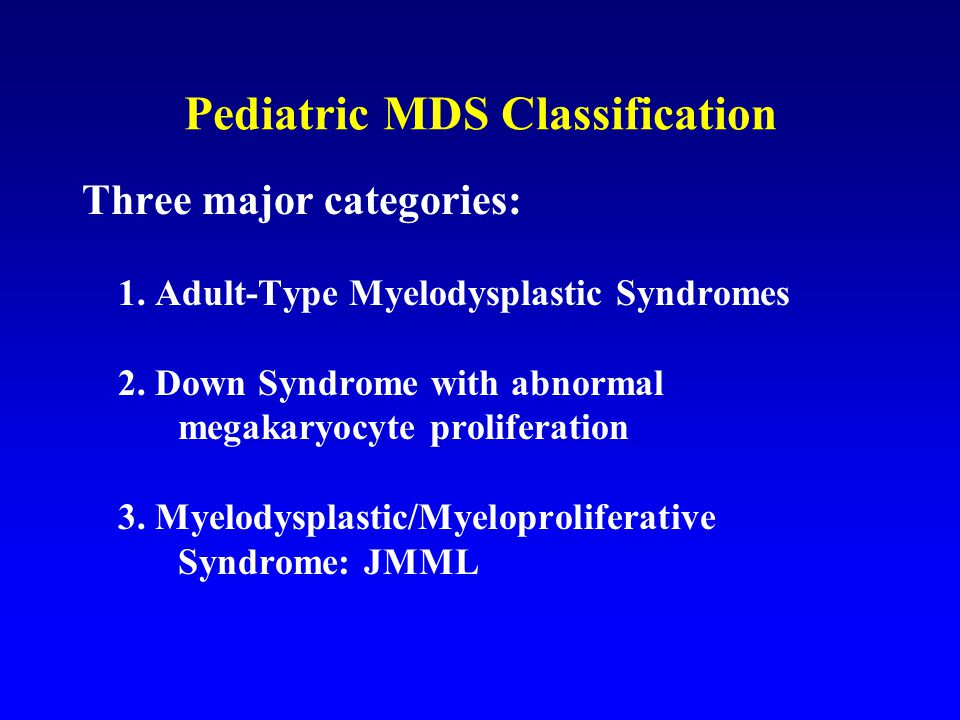 Pediatric MDS Classification