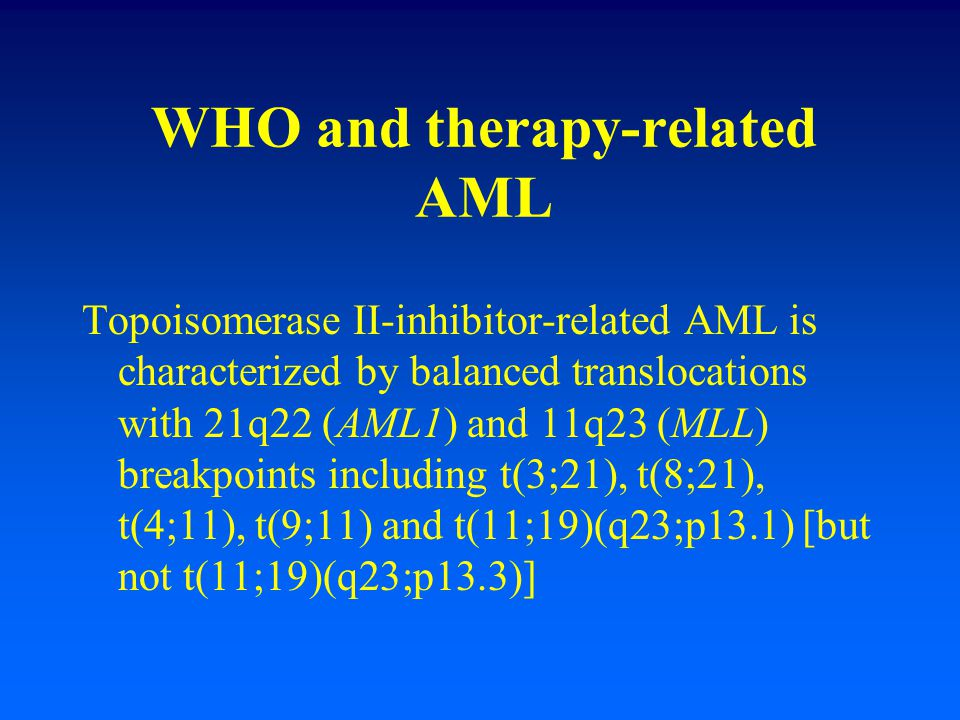 WHO and therapy-related AML