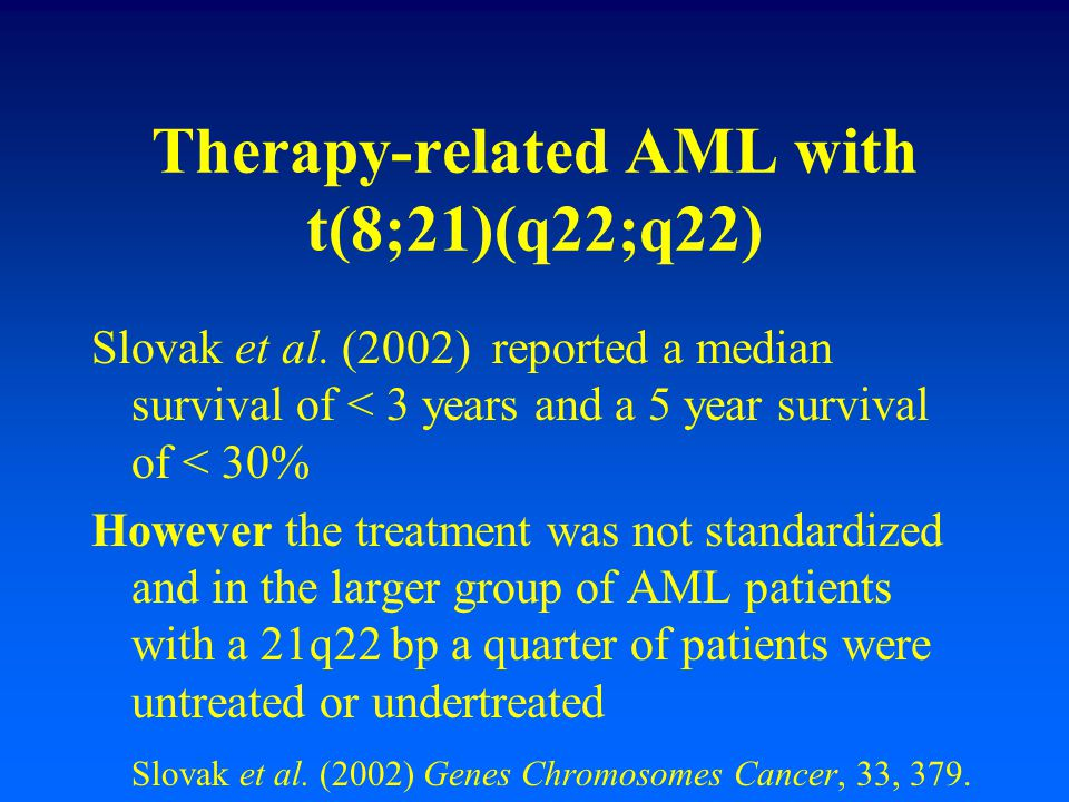 Therapy-related AML with t(8;21)(q22;q22)