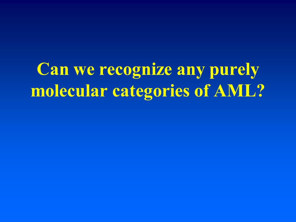 Can we recognize any purely molecular categories of AML
