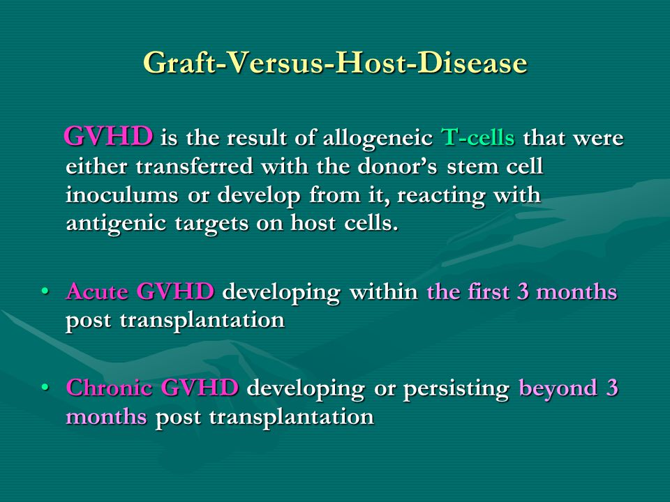 Graft-Versus-Host-Disease