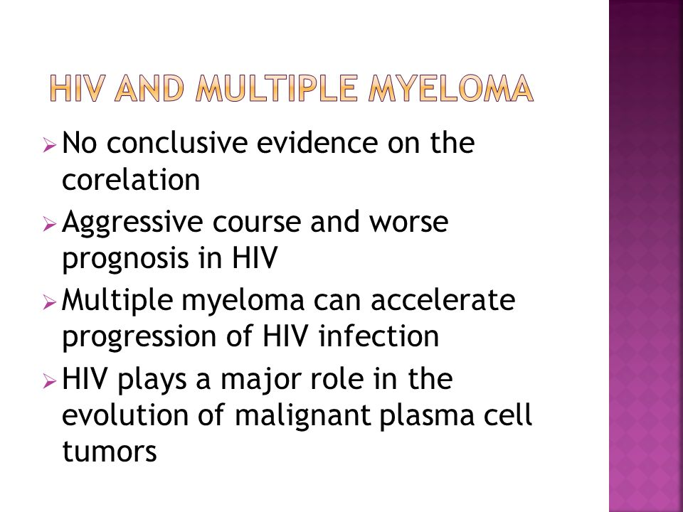 HIV and multiple myeloma
