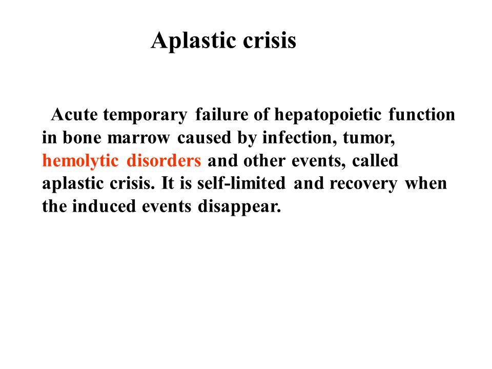 Aplastic crisis