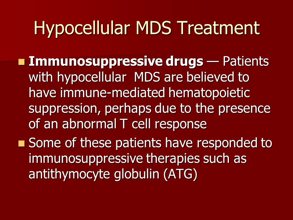 Hypocellular MDS Treatment