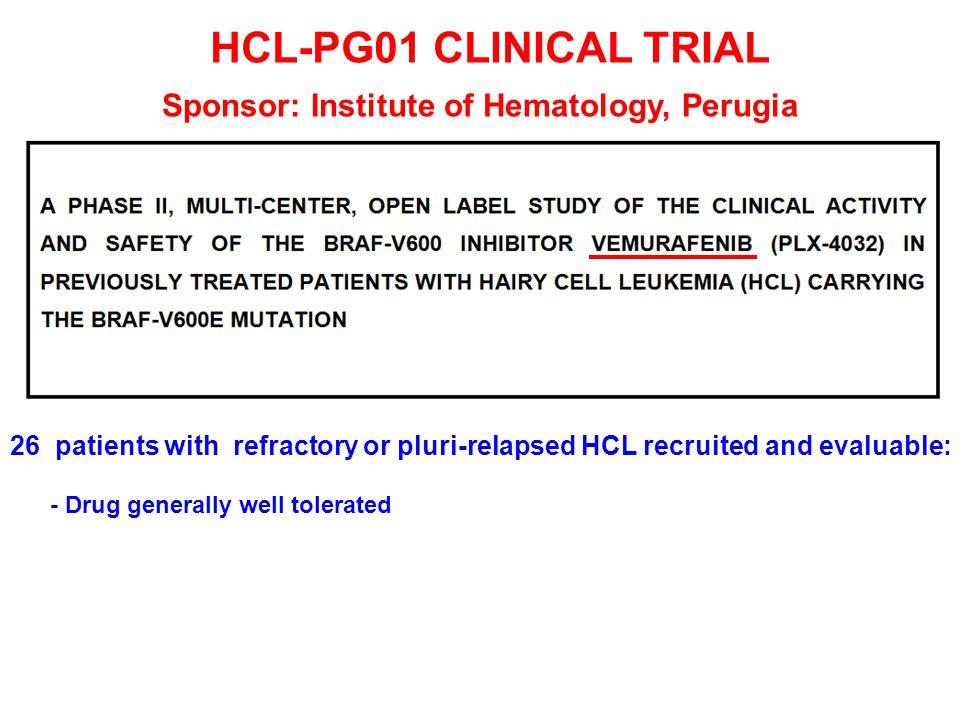 Sponsor: Institute of Hematology, Perugia