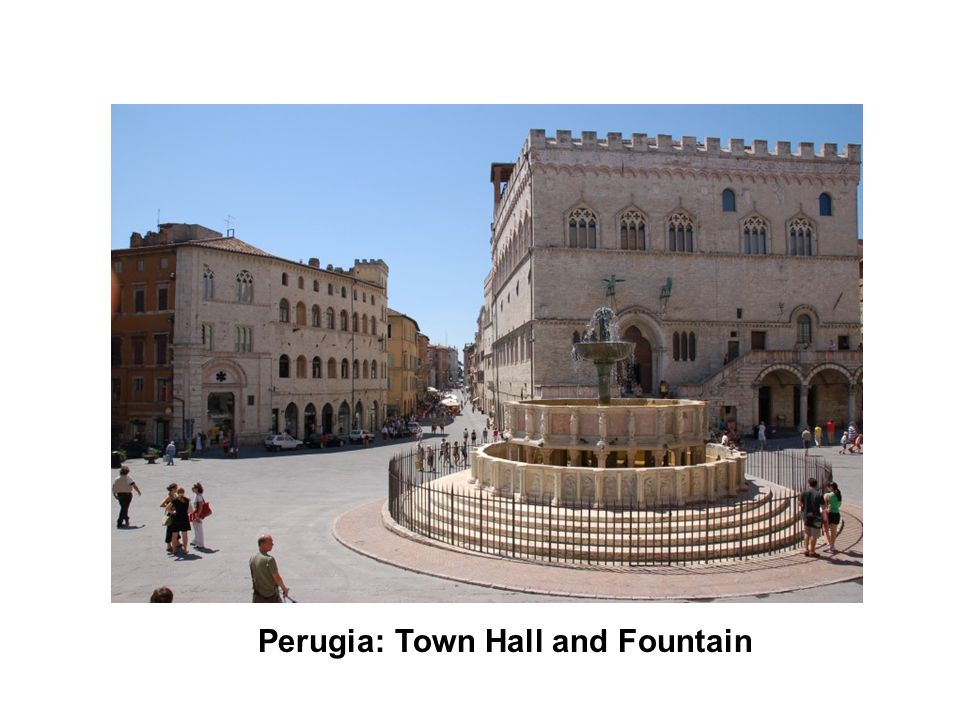 Perugia: Town Hall and Fountain