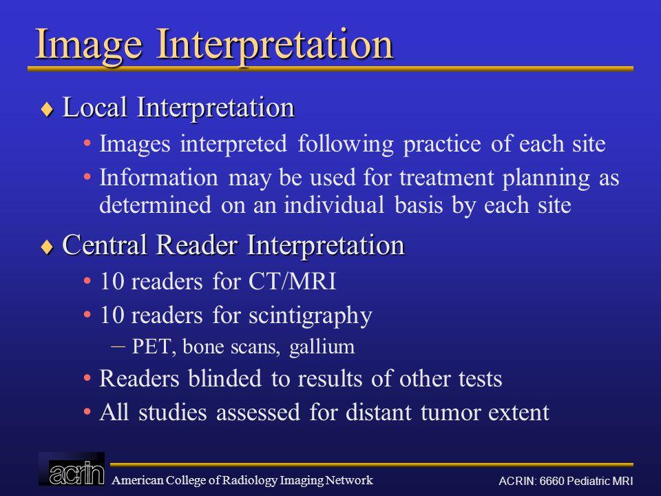 Image Interpretation Local Interpretation